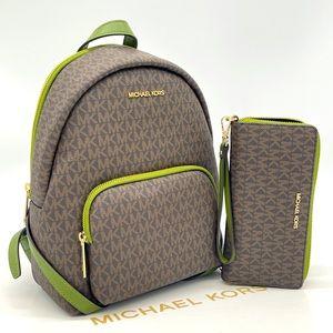 Michael Kors Medium Erin Backpack & Wallet